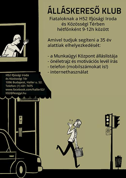 Álláskereső klub plakát