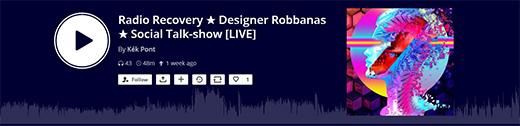 Designer Robbanás talk-show a Mixcloudon