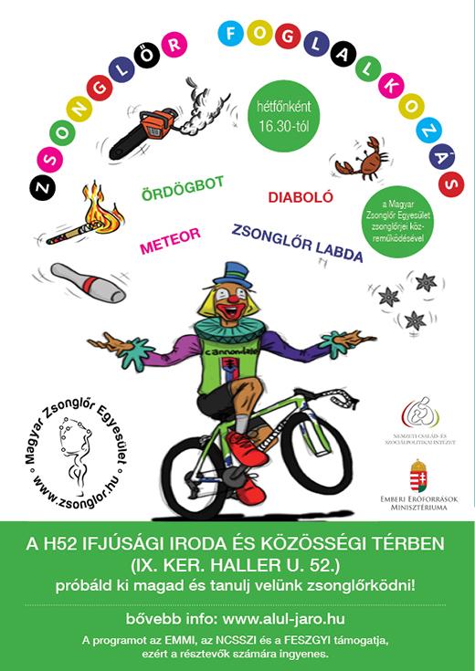 Zsonglőr foglalkozás plakát